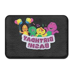 "Barney And Friends Birthday Bash Carpet Floor Mat 16""x24"""