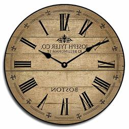 Barnwood Tan Wall Clock, Available in 8 sizes, Most Sizes Sh