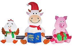 Gemmy Barnyard Farm Animals Christmas Synchronized LightShow