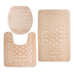 Bathroom Rug Mats Set 3 Piece - Memory Foam Extra Soft Show