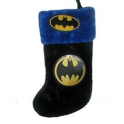 Kurt Adler Batman Logo Applique Stocking, 19-Inch