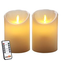 Homemory Battery Operated Led Candle with Remote, Pack of 2