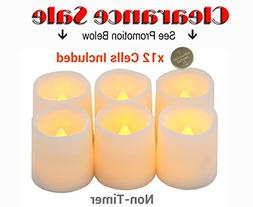 Festival Delights Battery Operated Candles, 1.5x1.75 inch, S
