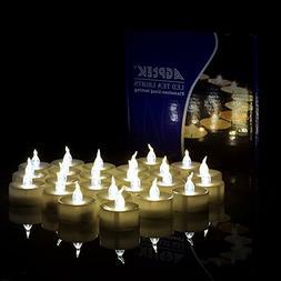 100 PCS Flameless Tea Lights, AGPtek Battery Operated No fli