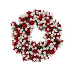 6.5-inch Beaded Berry Wreath Candlering Candle Ring Christma