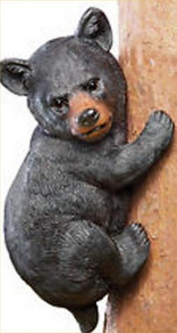 Bear climb on Tree Yard Art Country Bears Cabin Decor Lodge