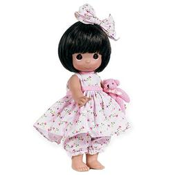 The Doll Maker Bear-Foot Blessings Baby Doll, Brunette, 12""