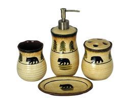 HiEnd Accents Bear Lodge Bathroom Set