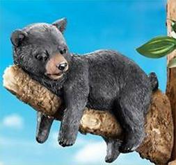 Bear Tree climber on Branch Yard Art Country Bears Cabin Dec