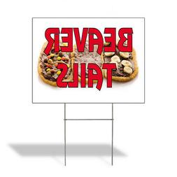 Beaver Tails Outdoor Lawn Decoration Corrugated Plastic Yard