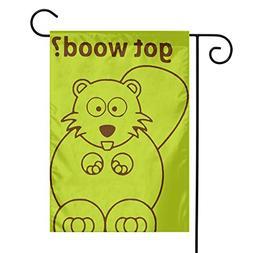 "BRENDA SMALL Beaver Wants Wood Garden Flag 12"" X 18"" Decorat"