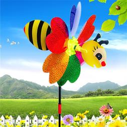 bee windmill cute colorful 3d insect pinwheel