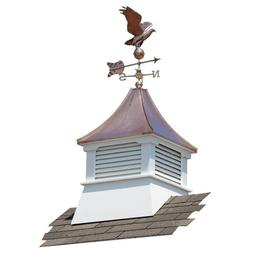 Suncast Belvedere Vinyl Cupola with Copper Roof and Weatherv