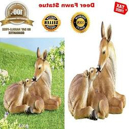 BEST Life Size Deer Fawn Statue and Figurine for Outdoor Yar