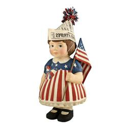 Bethany Lowe 4th Of July American Flag Patriotic Betsy Figur