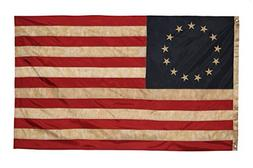 Founding Fathers Flags Betsy Ross Vintage Embroidered Flag ,