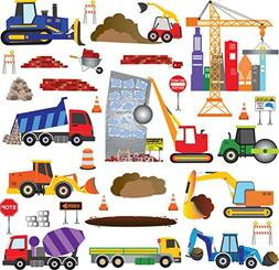 Big City Construction Wall Decals - Wall Art for Kids Rooms