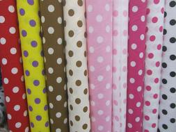 """BIG POLKA DOT POLY COTTON FABRIC 58"""" WIDE BY THE YARD HOME D"""