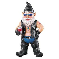 biker figurine outdoor yard decor sculpture home