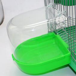 Bird Bath Bowl Cage Water Hanging Birdbath Plastic For Parak