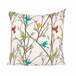 bird square throw pillow case