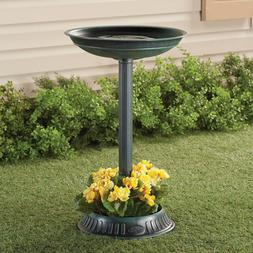 "Birdbath and Planter Base 25"" Weather-resistant Plastic Yard"