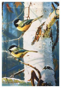 """Birds & Birched Garden Flag 12""""X18"""" Designer Decorative Flag"""