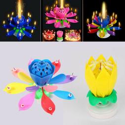 Birthday Candle Lotus Flower Magic Cake Decoration Blossom M