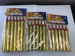 Birthday Wedding Bottle Party Gold Sparkling Candles