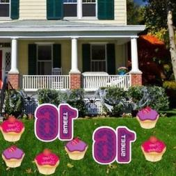 Birthday Yard Cards - Sweet 16 Cupcakes Yard  - FREE SHIPPIN