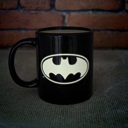 Official Black Batman Logo Glow in the Dark Mug - Boxed by P