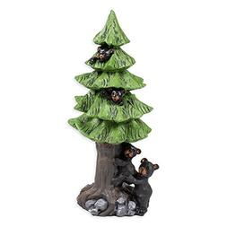 Black Bears In Tree 8 x 4 x 3.5 Inch Resin Crafted Tabletop