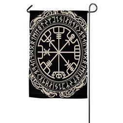 KJDS Black Celtic Viking Design Magical Compass Home Decorat