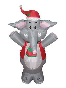 Tangkula 4 Ft Blow Up Inflatable Christmas Cute Elephant Dec
