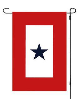 Blue Star Member in Service Banner Garden Flag 11x14 Yard De