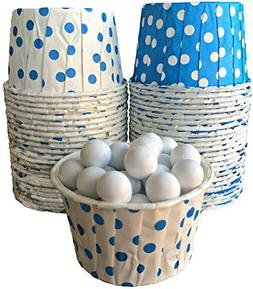 Outside the Box Papers Blue and White Polka Dot Candy Nut Cu