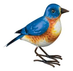 Bluebird Replica Bird  Metal Yard Decor, hand painted, w/ li