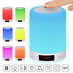 ACTOPP LED Bluetooth Speaker Touch Sensor Bedside Lamp Dimma