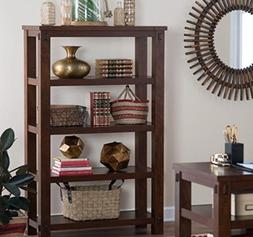 Small Bookcase, Narrow Bookcases, Horizontal ,With Beadboard