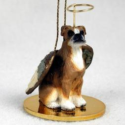 Boxer Angel Dog Ornament - Uncropped Ears