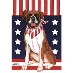 Boxer Patriotic Breed Garden Flag