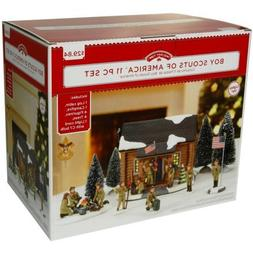 Holiday Time Boy Scouts of America 11-Piece Village Set Mult