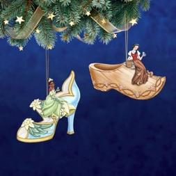 The Bradford Exchange Disney Once Upon a Slipper Ornament Se