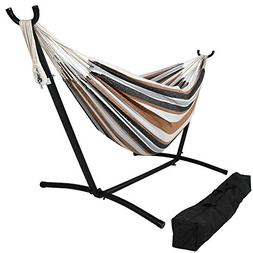 Sunnydaze Brazilian Double Hammock with Stand and Carrying P