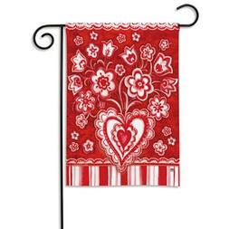 BreezeArt Folk Valentine Garden Flag #32628