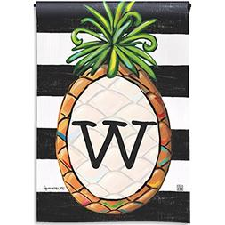 BreezeArt Southern Welcome Monogram 'W' Garden Flag 31384W