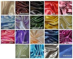 """BRIDAL SATIN FABRIC 58"""" WIDE BY THE YARD HOME DECOR & SPECIA"""