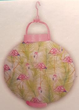 Bright Pink and Green Flamingo Design Paper Lantern