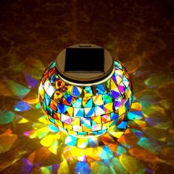 Kaleep Bright Solar Lawn Light Solar Lawn Lamp Mosaic Glass