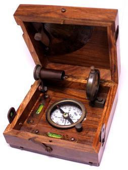 """Bronze Alidade Sundial Compass 4.6"""" - Bronze Desk Compasses"""